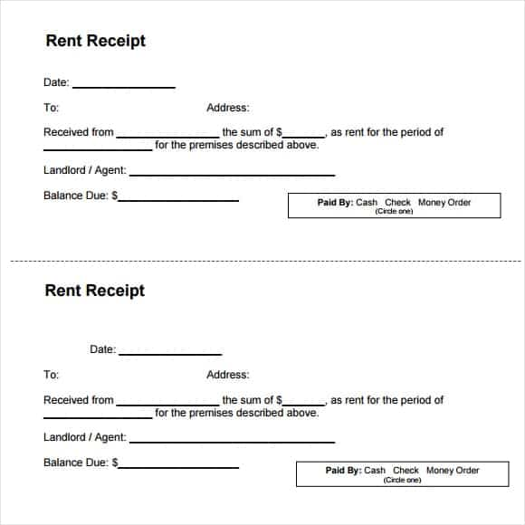 Top 5 Samples Of Rent Receipt Templates - Word Templates, Excel