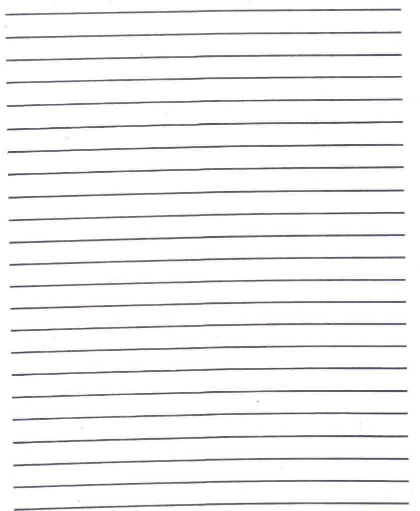 handwriting paper template – Writing Lines Template