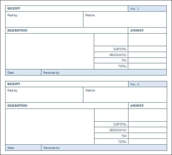 Top 5 Layouts For Sales Receipt Templates Word Templates Excel – Sales Receipts Template Free
