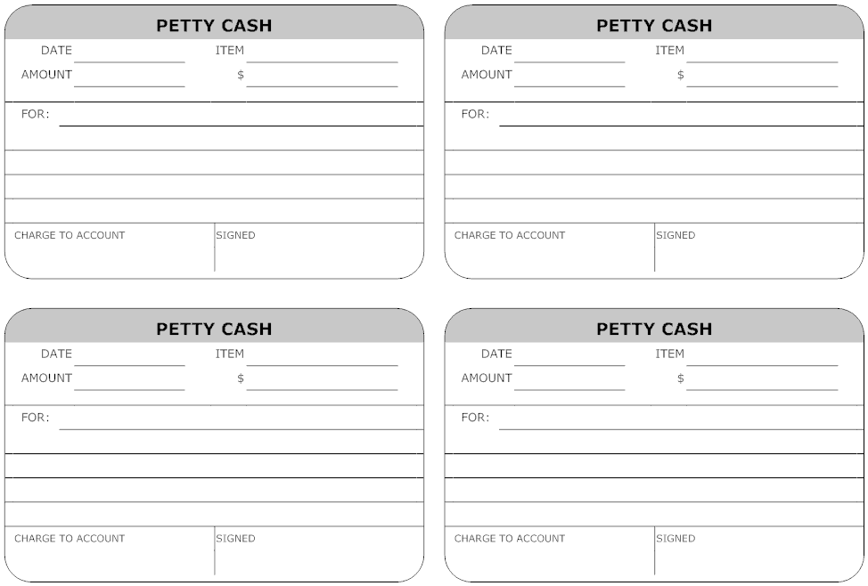Top 5 layouts of petty cash templates word templates for Cash confirmation template