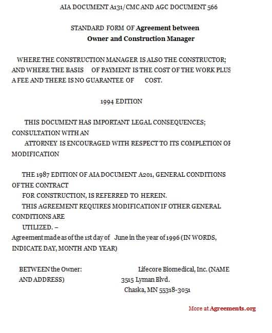 Top 5 Formats Of Construction Agreement Templates Word Templates