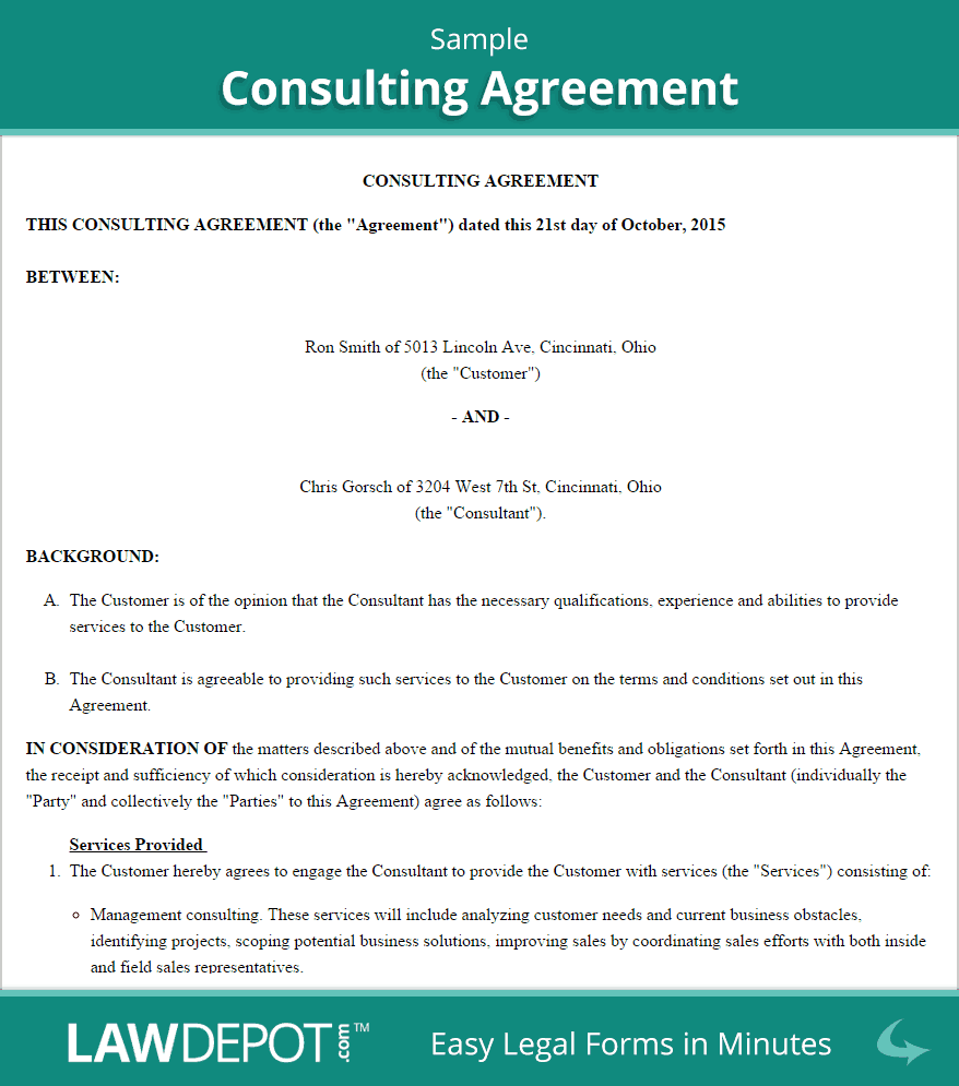consulting agreement template 2941
