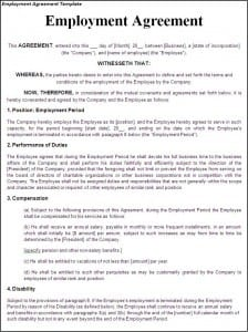 Top 5 Free Employment Agreement Templates   Word Templates, Excel Templates  Contract Layouts