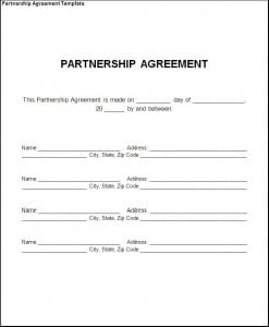 Top 5 free partnership agreement templates word for Rto partnership agreement template