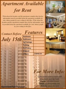 Apartment Flyer Template Word Templates Excel Templates - Apartment brochure templates