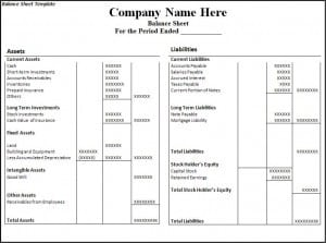 Word Excel Templates  Excel Balance Sheet Template Free Download