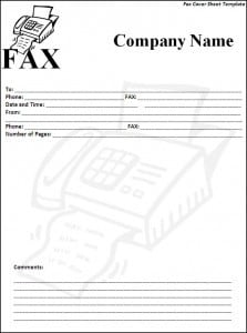 microsoft office fax cover sheet