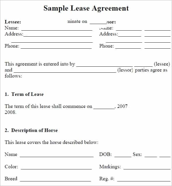 Top  Free Lease Agreement Templates  Word Templates Excel Templates