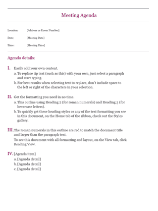 Virtual Meeting Agenda Template  Cool Agenda Templates