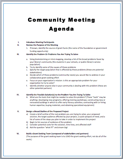 Doc529684 Agenda Meeting Example Free Meeting Agenda Template – Agenda Meeting Template