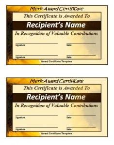 school leaving certificate template templates merit sample
