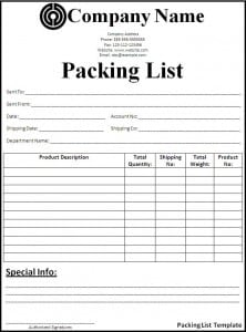 Top 5 Free Packing List Templates - Word Templates, Excel Templates