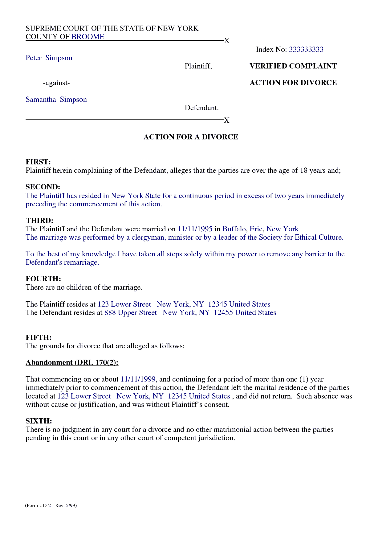 seperation agreement template - top 5 free formats of separation agreement templates