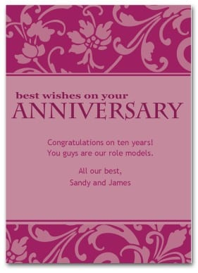 anniversary card template 154