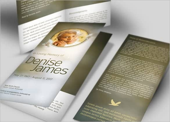 Top 5 Layouts Of Funeral Program Templates Word Templates Excel – Funeral Service Program Template Word