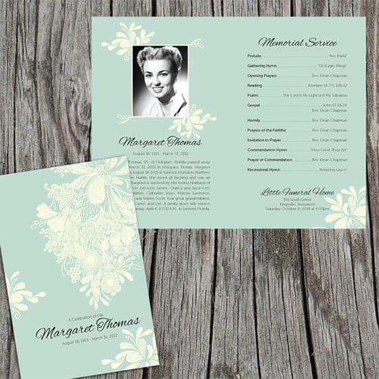 Top 5 Layouts Of Funeral Program Templates Word Templates Excel – Free Funeral Programs