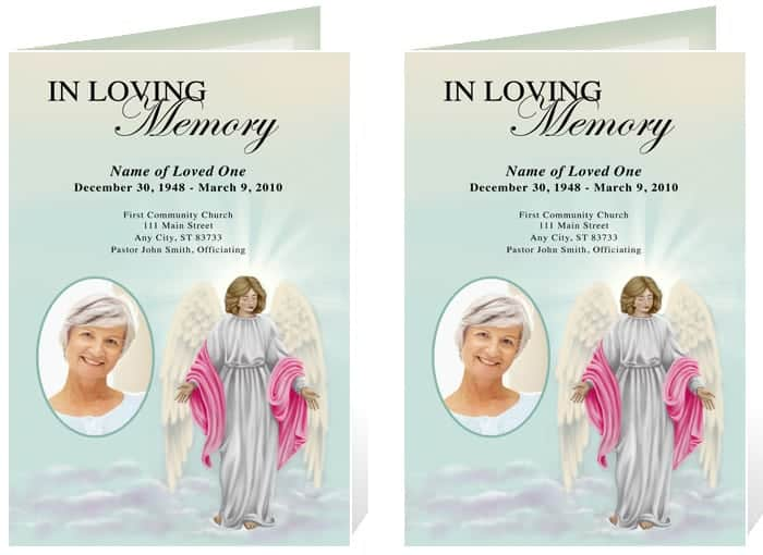 Top 5 Layouts Of Funeral Program Templates Word Templates Excel – Funeral Poster Templates