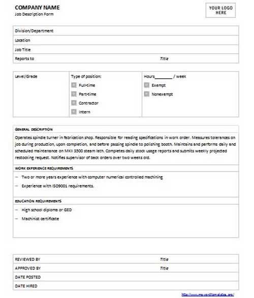 Elegant Caregiver Job Description Template Intended For Job Description Word Template