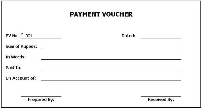 Voucher Template For Word. Blank General Voucher Free Pdf Format