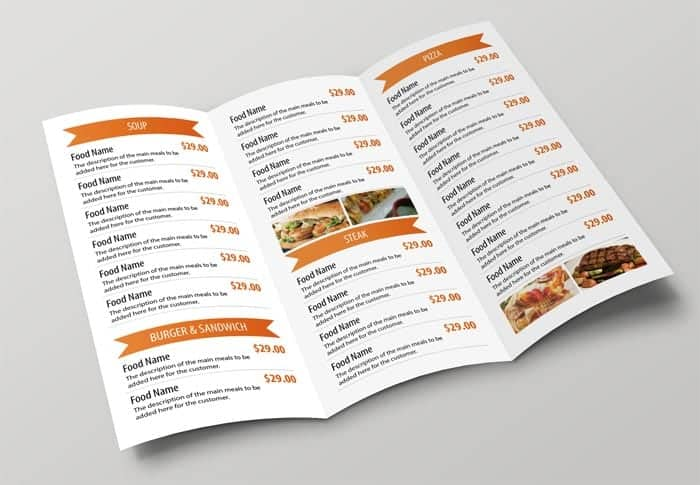top 5 free restaurant menu templates word templates excel templates. Black Bedroom Furniture Sets. Home Design Ideas