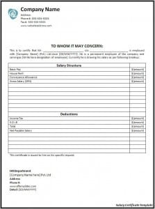 Top 5 Resources To Get Free Salary Certificate Templates Word