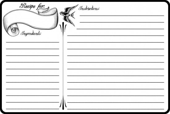Top 5 Resources To Get Free Recipe Card Templates Word Templates – Free Recipe Card Templates for Microsoft Word