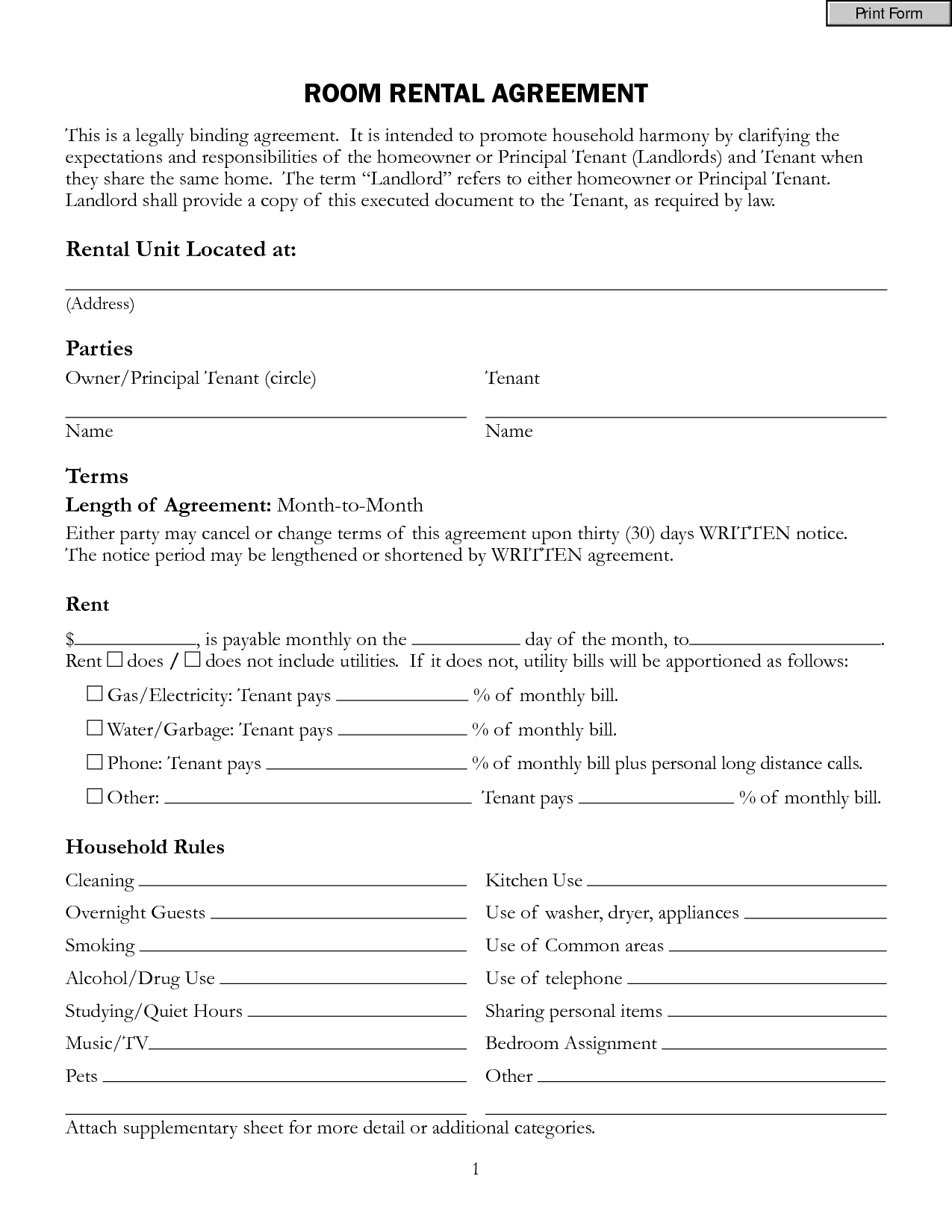 renters contract template free - top 5 resources to get free rental agreement templates