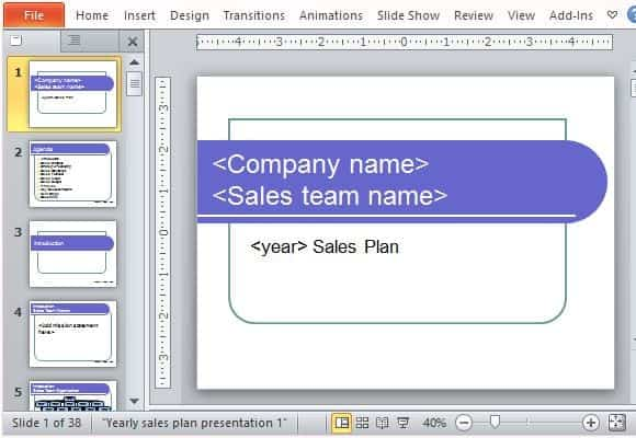 sales plan template 4512