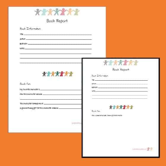 Printable book report