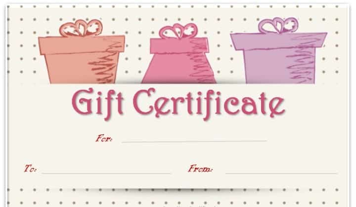 shopping spree certificate template