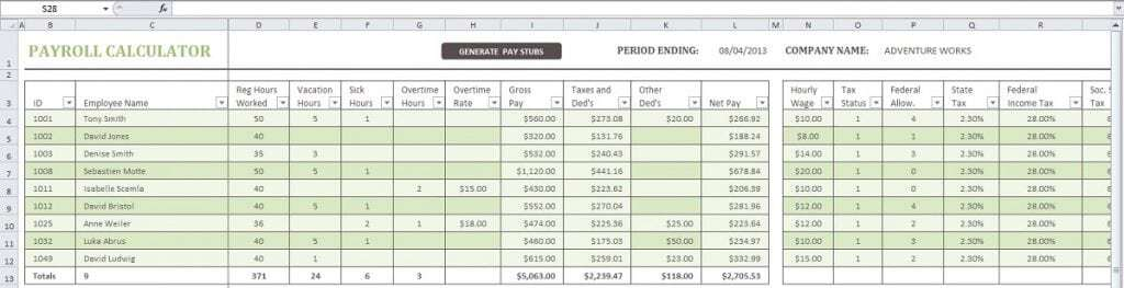 Doc707552 Payroll Templates Payroll Template Free Employee – Free Payroll Template