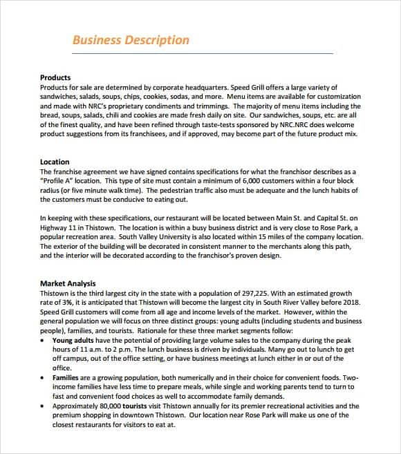 business plan bakery pdf