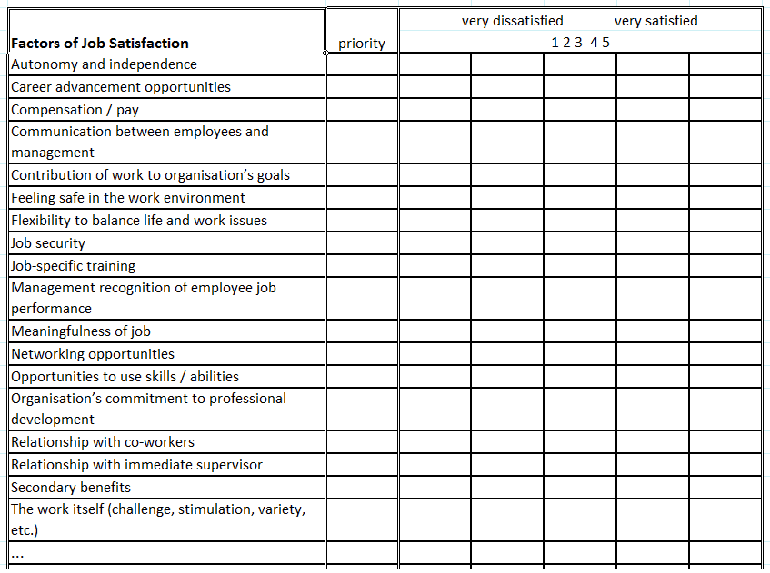 satisfaction questionnaire template