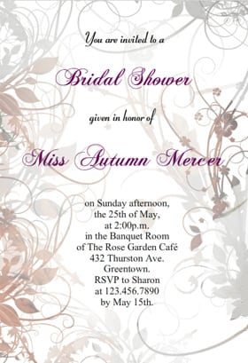 Printable Wedding Shower Invitations Templates home decor Mrsilvaus