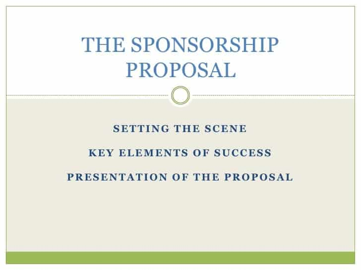 Top 5 Resources To Get Sponsorship Proposal Templates Word – Sponsorship Templates