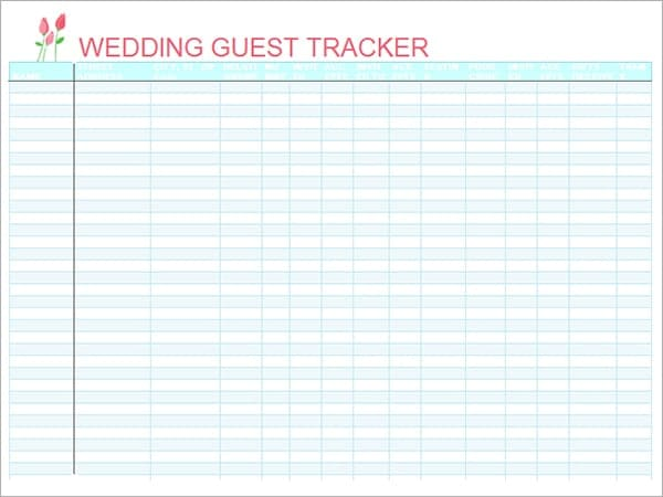 Top 5 Resources To Get Free Wedding Guest List Templates Word – Free Wedding Guest List Template