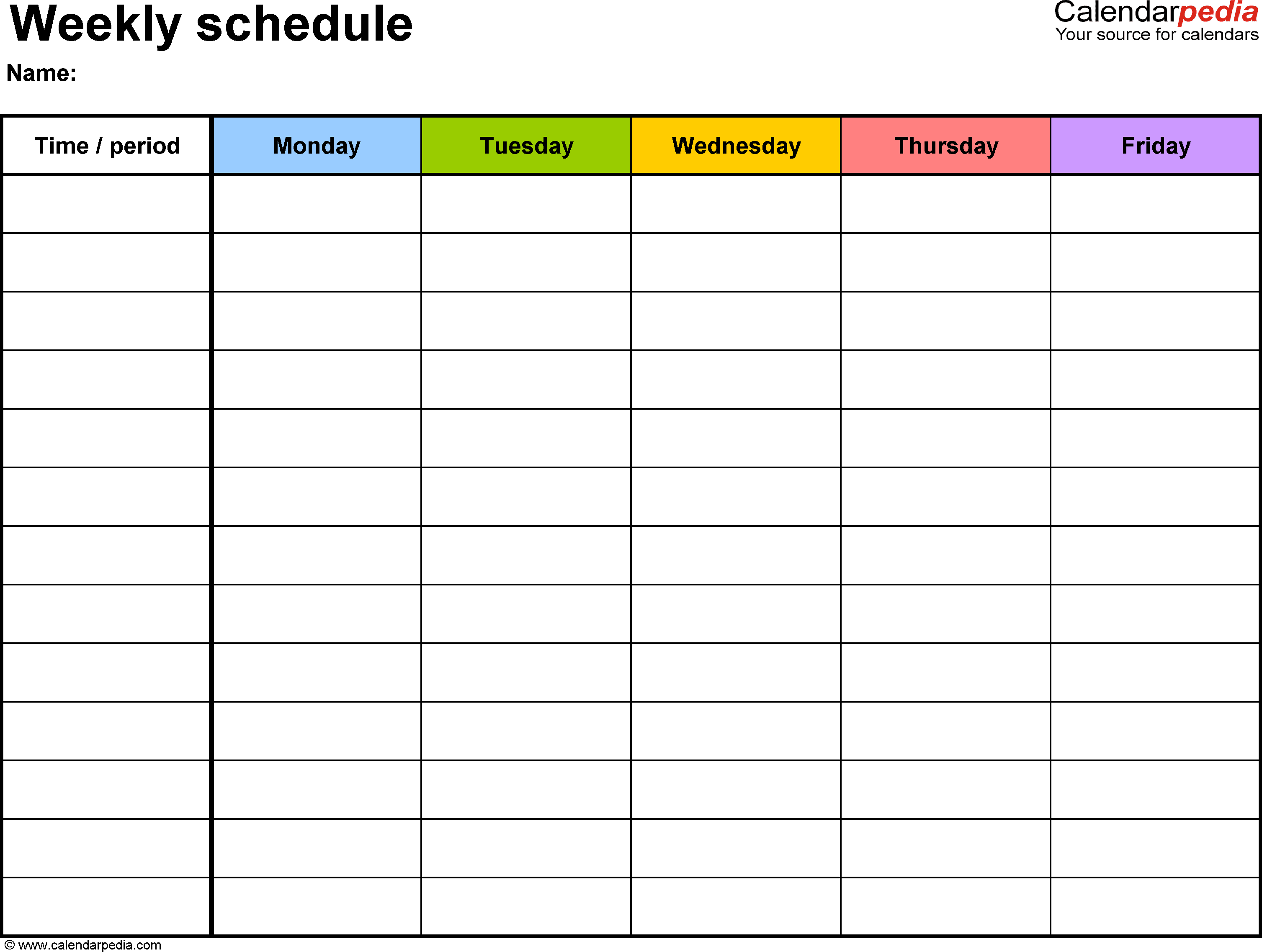 Top 5 resources to get free weekly schedule templates for Rtu time table 4 th sem 2015