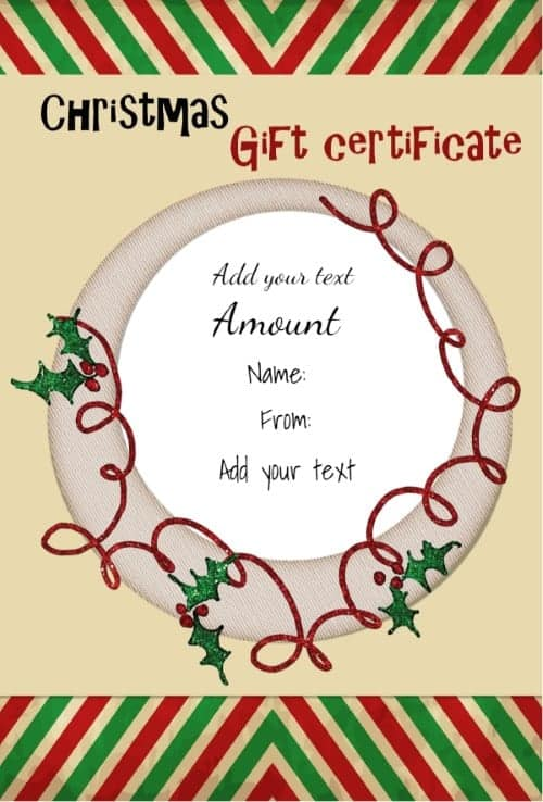 Top 4 Resoureces To Get Free Christmas Gift Templates Word – Free Christmas Gift Certificate Templates