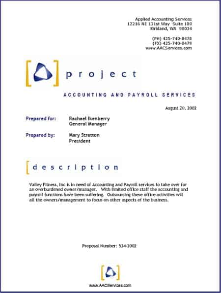 Project Management Proposal Template Free