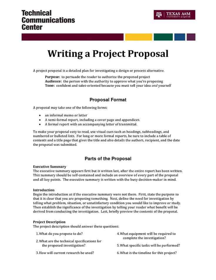 research proposals template