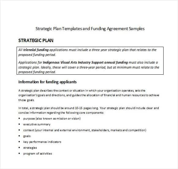Sample Strategic Plan Guide To Writing A Strategic Plan Step One