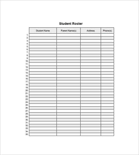 Student Checklist Templates