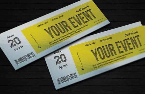 ticket invitation template 3454