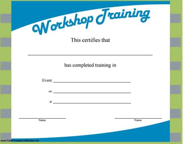 Top  Resources To Get Free Training Certificate Templates  Word
