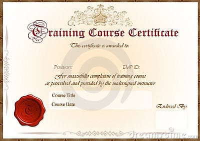 Top 5 Resources To Get Free Training Certificate Templates Word – Training Certification Template