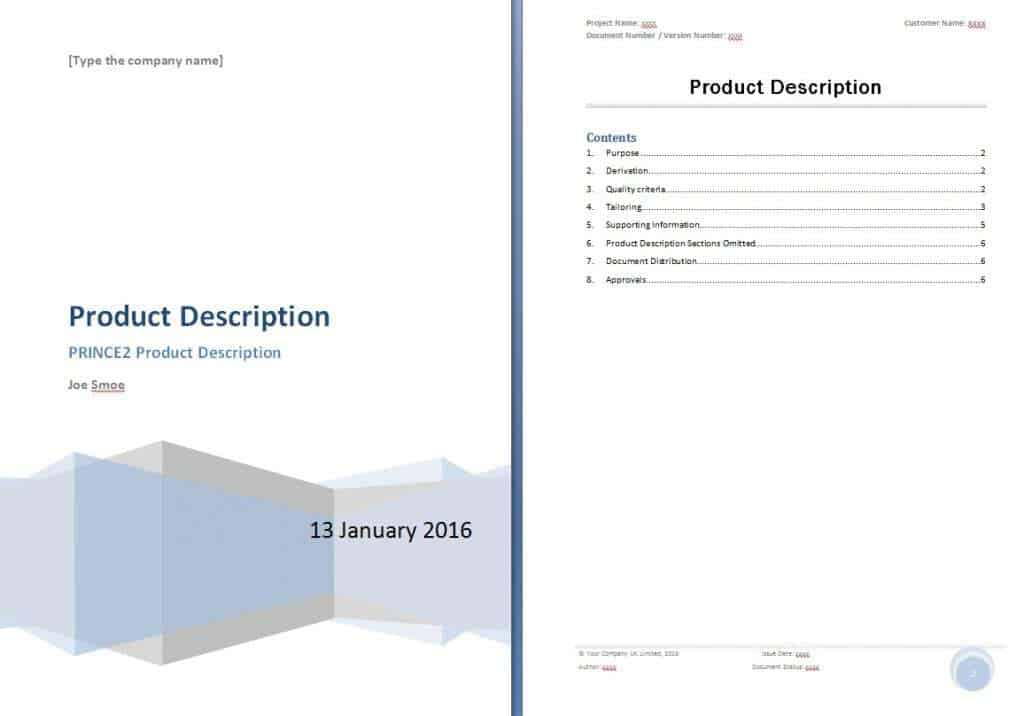 Top 5 Resources To Get Free Product Description Templates Word – Product Description Template