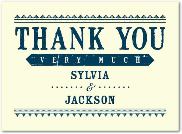 Thank you card Template 37941