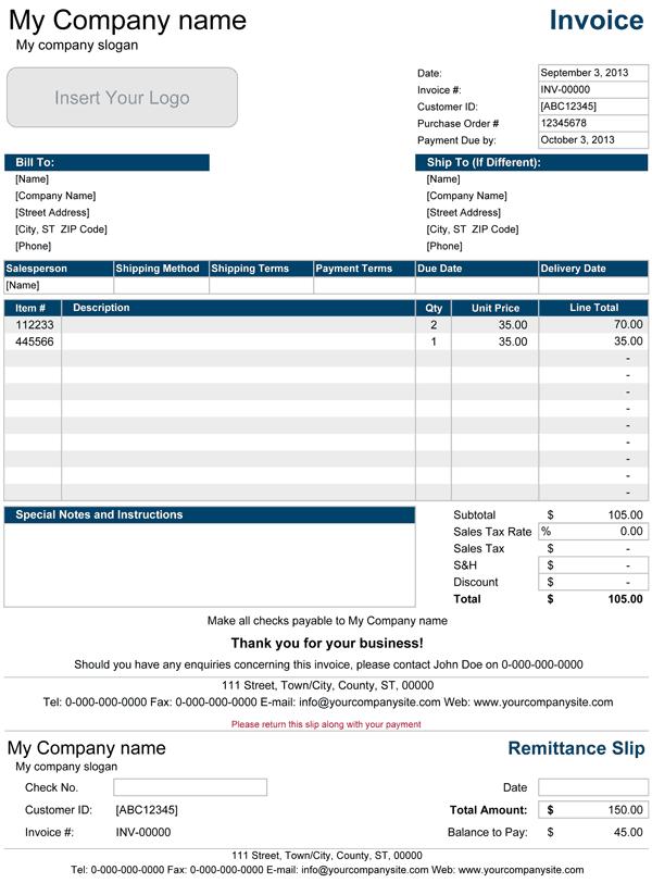 sales invoice template 241