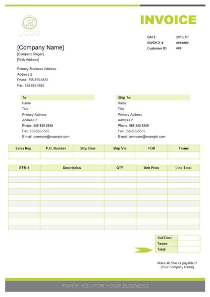 sales invoice template 341