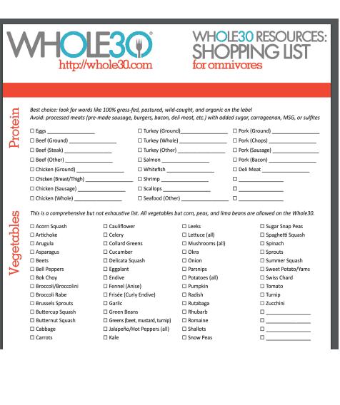 shopping list template 374